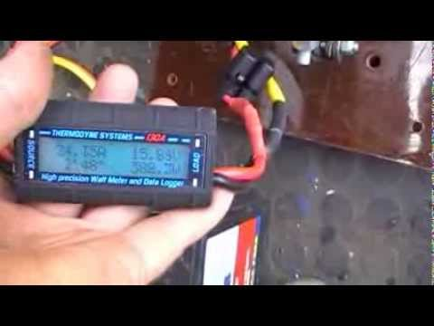 The PC1212 engine load test charging 12v battery Very good for Hydro!