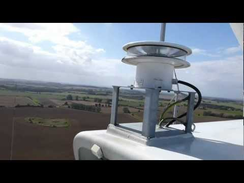 Panorama view from a wind turbine in northern Germany