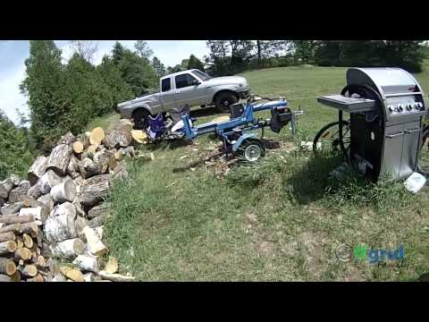 OFF GRID FAMILY #95 – First vid with our new Go Pro… Splitting wood at the homestead