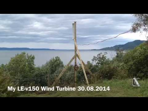 My LE-v150 Wind Turbine 30.08.2014