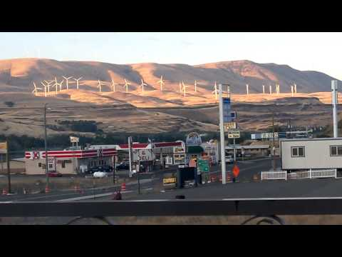 2014-08-23 Biggs Junction wind farm in the late afternoon