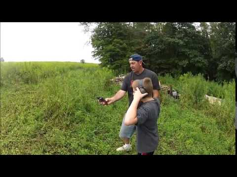 Off Grid Lignin Zombie Shooting Practice With Herby & Family