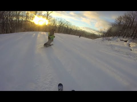 Black Friday Skiing 2014 – GoPro Hero view at Jiminy Peak