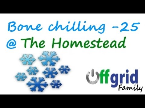 VERY cold evening at our off the grid homestead | OFF GRID FAMILY