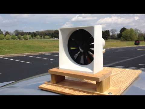 A short clip of the MicroCube spinning in the breeze.
