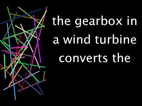 Topic: the gearbox in a wind turbine converts the