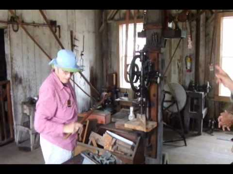 Machine Shop run by a Pelton Turbine Water Wheel