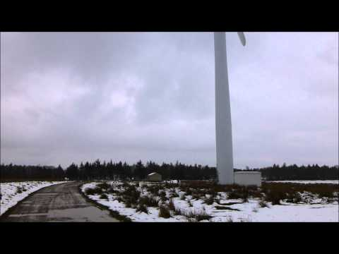 Wind turbine noise test. You can hear cars in the background!