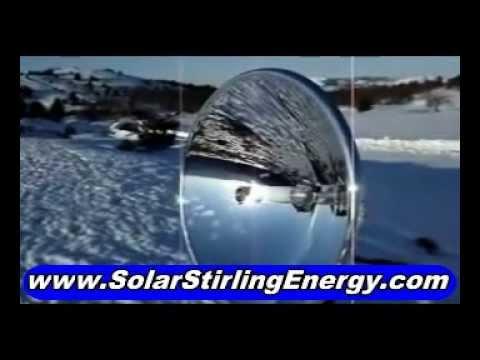 Solar Stirling Plant, See Proof Of Solar Stirling Free Energy Generator